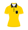 Black polo shirt outline vector image vector image