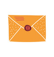 blank retro mail envelope with seal vector image vector image