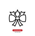 bow ribbon icon vector image vector image
