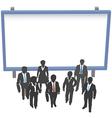 Business people sign front copyspace vector image