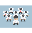 businessman has been observed by eyeball head vector image