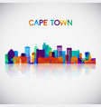 cape town skyline silhouette vector image vector image