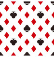 card suit pattern diamonds and clubs seamless vector image