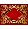 Card with gold ornament vector image