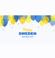 celebrate banner national day sweden vector image vector image