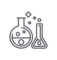 chemistry labexperiments line icon sign vector image vector image