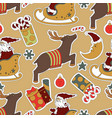 christmas beige seamless pattern background vector image