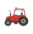 countryside transport tractor vehicle car vector image vector image