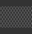 creative of chain link fence vector image vector image