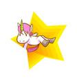 cute super star unicorn background vector image