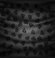dark spades pattern background vector image