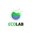 eco lab logo template vector image