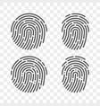 fingerprint finger print logo icons vector image vector image