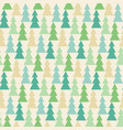 forrest of pine in vintage style pattern vector image