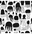 funny jellyfishes seamless pattern for your vector image