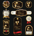 gold and brown elegant wine labels collection vector image vector image