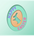 happy easter day greeting card vector image