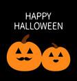happy halloween pumpkin family love couple funny vector image
