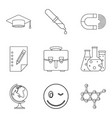 important knowledge icons set outline style vector image vector image