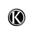 letter k modern vector image vector image