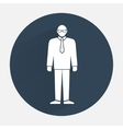 Man icon Office worker people symbol Standing vector image