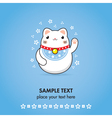 maneki neko greeting card vector image