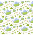 matcha tea flat seamless pattern vector image vector image