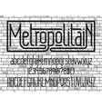 Metropolitain font Minimalistic typeface vector image