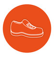 moccasin shoe isolated icon vector image vector image