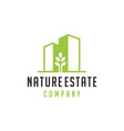 nature building estate logo vector image vector image