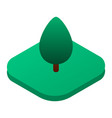 park tree on grass icon isometric style vector image vector image