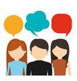 people having conversation icon image vector image