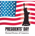 presidents day background statue of liberty vector image vector image