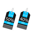price tag up to 40 50 off image vector image