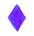 purple crayon scribble texture stain rhombus shape vector image vector image