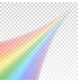 rainbow icon shape realistic isolated on white vector image vector image