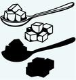 Refined white sugar spoon vector image