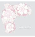 romantic pink flower backgroundoun vector image