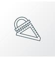 ruler icon line symbol premium quality isolated vector image
