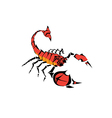 scorpions two vector image vector image