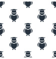 seamless owl pattern education symbol from icon vector image vector image