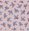 seamless pattern with a flock of flying birds vector image