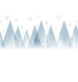 seamless winter forest background with text space vector image vector image