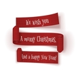 Set of realistic Christmas and New Year Ribbons vector image vector image