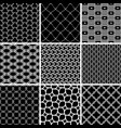 set of seamless black and white backgrounds for vector image