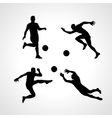 Silhouettes of Soccer Players vector image vector image