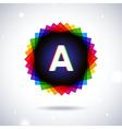 Spectrum logo icon Letter A vector image
