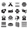 Stage lighting icons vector image