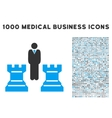 Strategy Icon with 1000 Medical Business vector image