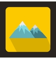Swiss alps icon flat style vector image vector image